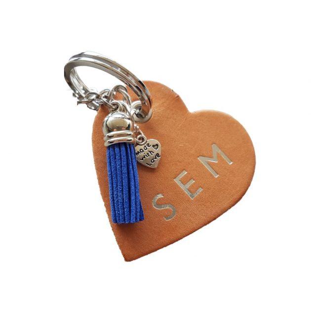 sleutelhanger hart gepersonaliseerd